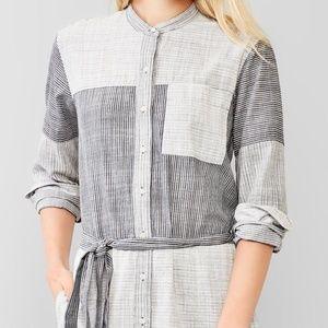 Gap 100% cotton high low indigo shirt dress